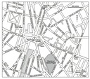 Road map of the area surrounding the Bastille, Paris.