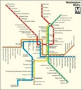 Plan of the Washington Metro.